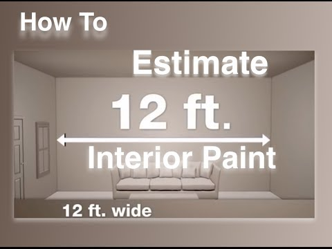 Estimating The Amount Of Paint Needed For Interior Surfaces Youtube