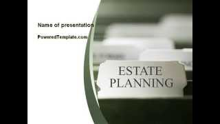 Estate Planning PowerPoint Template by PoweredTemplate.com