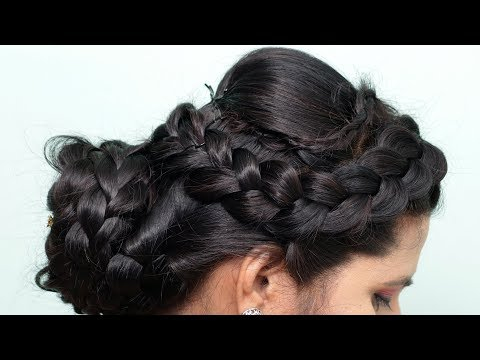 Easy Wedding Updo | New Updo For Wedding/Party | Hair style girl | Wedding Hairstyles in 2019
