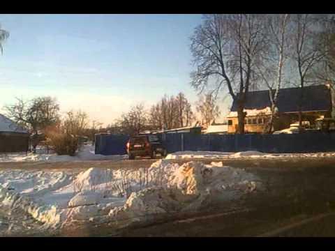 Автобус Ступино-Коломна,проезжая п.Малино,Зима 2012г.