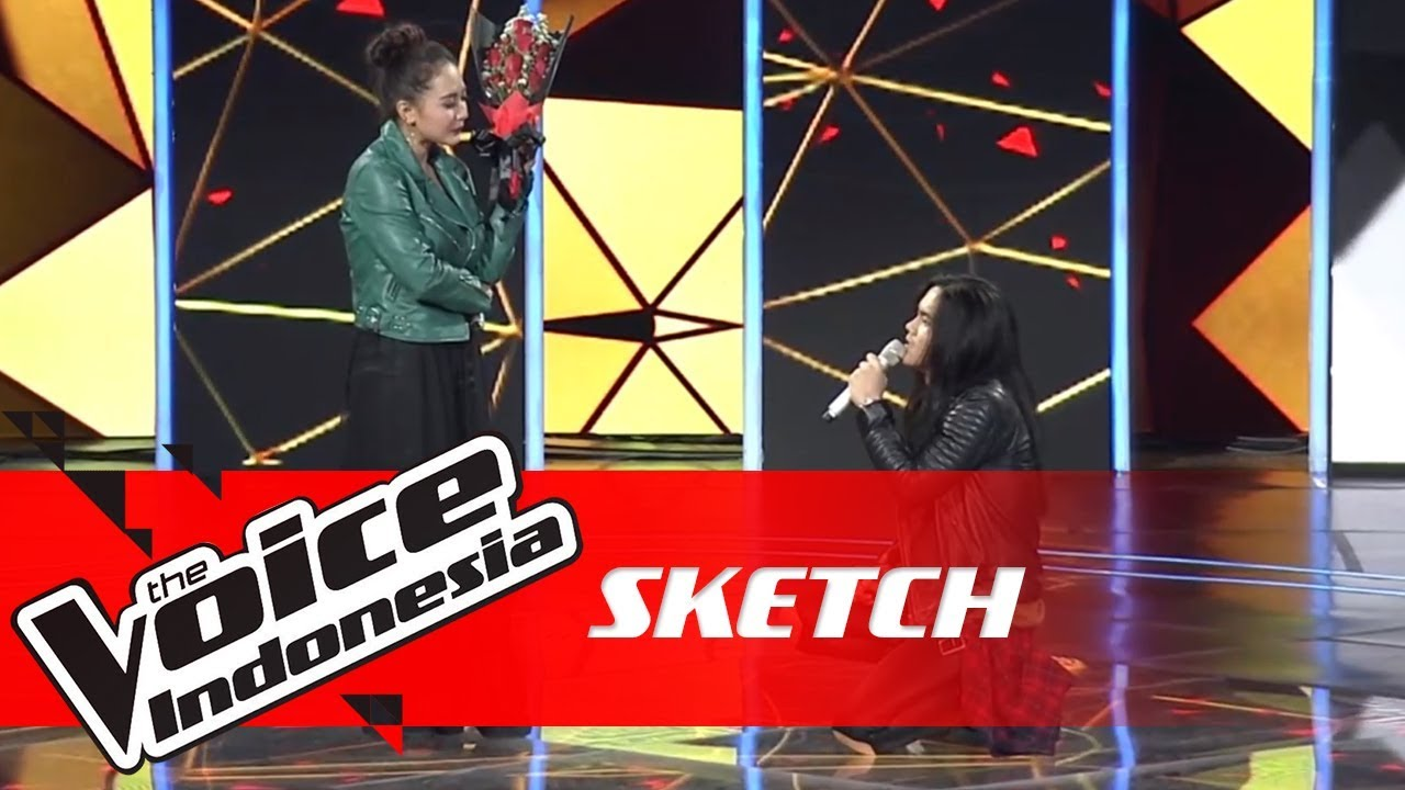 Romantis ngelamar disiarin tv nasional so sweet ❤ sketch the voice indonesia gtv 2018
