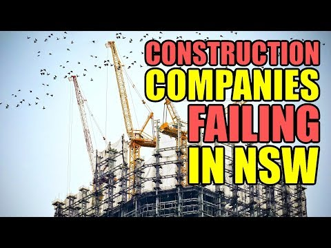 Construction Companies Failing In New South Wales