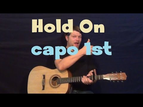 Hold On (Adam Lambert) Easy Guitar Lesson Strum Chord How to Play Tutorial