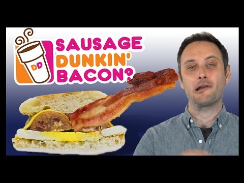 Dunkin' Donuts Is Putting Bacon INSIDE of Sausage! - Food Feeder