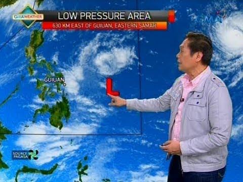 LPA at bagyo na nakapaloob sa trough, magpapaulan sa Bicol region, Visayas at Mindanao bukas