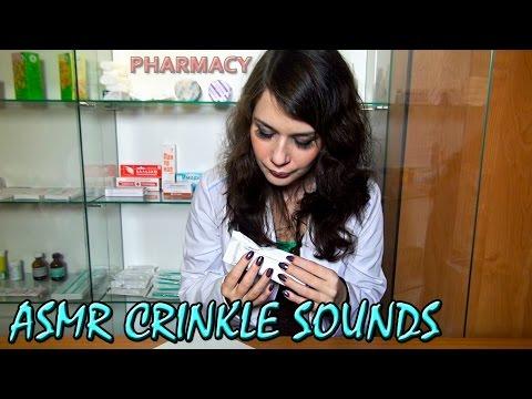 ASMR Crinkle Sounds. ASMR Nail Tapping Sounds. Pharmacy.