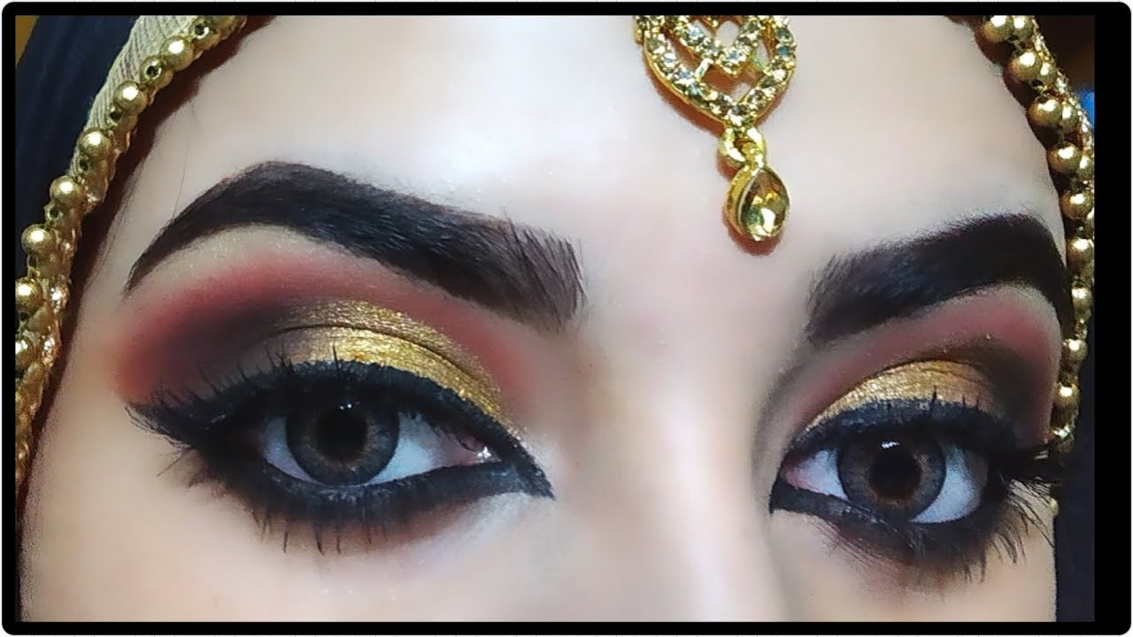 AFFORDABLE INDIAN BRIDAL EYE MAKEUP TUTORIAL💛 - YouTube