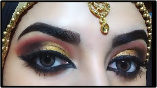 AFFORDABLE INDIAN BRIDAL EYE MAKEUP TUTORIAL💛
