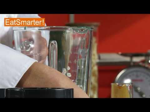 Einen Sanddorn-Kefir-Drink mixen