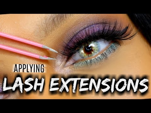 How to Apply False Eyelashes to Curly Lashes| Lash Prep, EYELINER, Application! {VERY DETAILED}