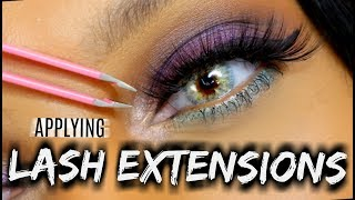 How to Apply False Eyelashes to Curly Lashes| Lash Prep, EYELINER, Application! {VERY DETAILED}