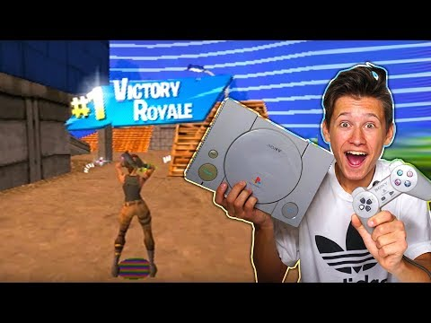 My Little Brother REACTS To Fortnite Battle Royale ON PLAYSTATION 1