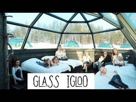 NIGHT In A GLASS IGLOO / LAPLAND FINLAND