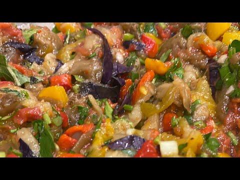 """Азербайджанский «Мангал салат»/BBQ"""" Salad/""""Mangal Salat"""", Закуска «Хумус»"""