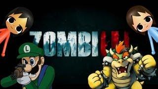 ZOMBIU GAMEPLAY: LUIGI vs BOWSER  Mutiplayer Match!! HD