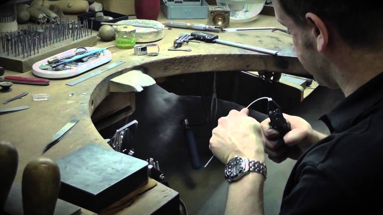 The Process Of Making A Hand Made Engagement Ring And Wedding Ring