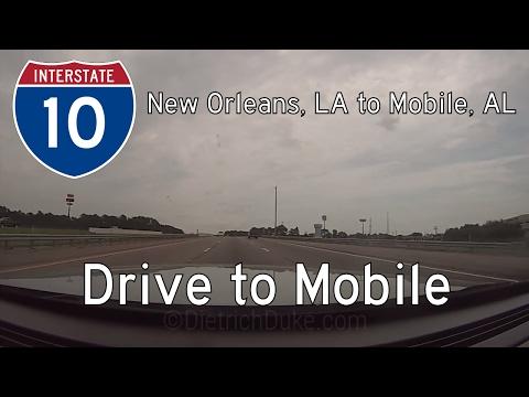 Interstate 10 - LA Mile 267 - AL Mile 16 - Louisiana / Alabama   Drive America's Highways 🚙