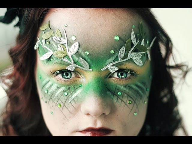 in which case this makeup is a nobrainer add a little greenery to your costume with some jewels and leaf decorations