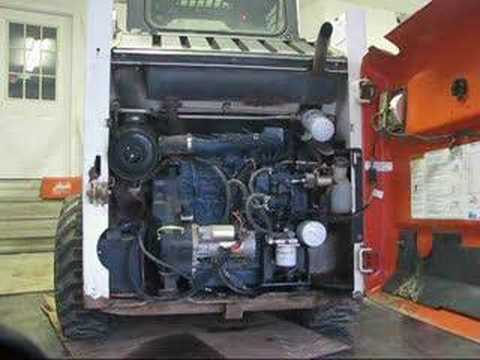 01 Bobcat 753 Starting up, 2500 hrs no rebuild - YouTube