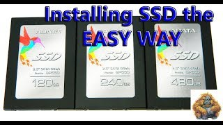How to install a new SSD hard drive in desktop computer