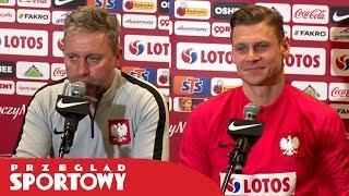 Jerzy Brzęczek i Łukasz Piszczek przed meczem Polska - Słowenia