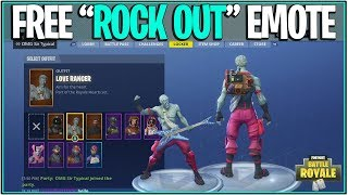 "*NEW* Fortnite: HOW TO GET THE ""ROCK OUT"" EMOTE AND LOVE RANGER SKIN FREE! 