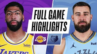GAME RECAP: Lakers 94, Grizzlies 92