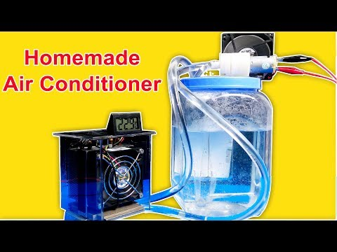 How to make Air Conditioner WITHOUT ICE - Simple Homemade Invention