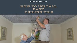 How to Install Easy Ceiling Tile