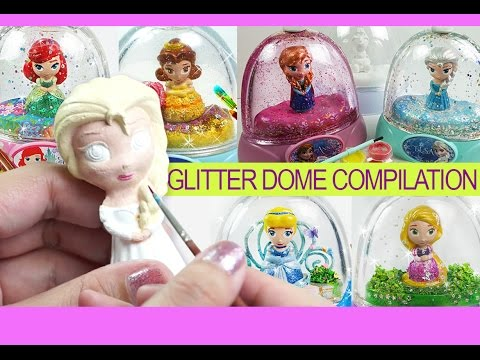 Coloring for kids Princess Glitzi globes inspired glitter dome compilation