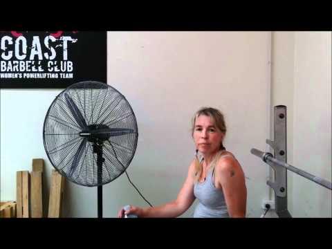 Rachel talks powerlifting pre comp hydration