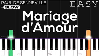 Mariage d'Amour (Chopin-Spring Waltz) | SLOW EASY Piano Tutorial