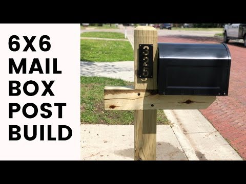 6x6 Mailbox Post Build (EASY DIY)