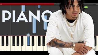 Ozuna El Farsante Piano Midi tutorial Sheet app Cover Karaoke
