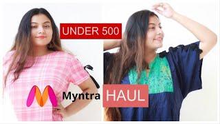Summer Tops Haul Under 500   Amazon Myntra Tops Haul   Deblina Rababi