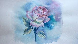 Уроки рисования. Как нарисовать РОЗУ акварелью how to Draw a ROSE step by step(Предлагаем вам урок как нарисовать розу акварелью. Это прекрасный видео урок, который поможет вам овладеть..., 2014-10-30T11:04:59.000Z)
