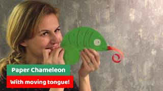 SIMPLE DIY FOR KIDS Chameleon with moving tongue