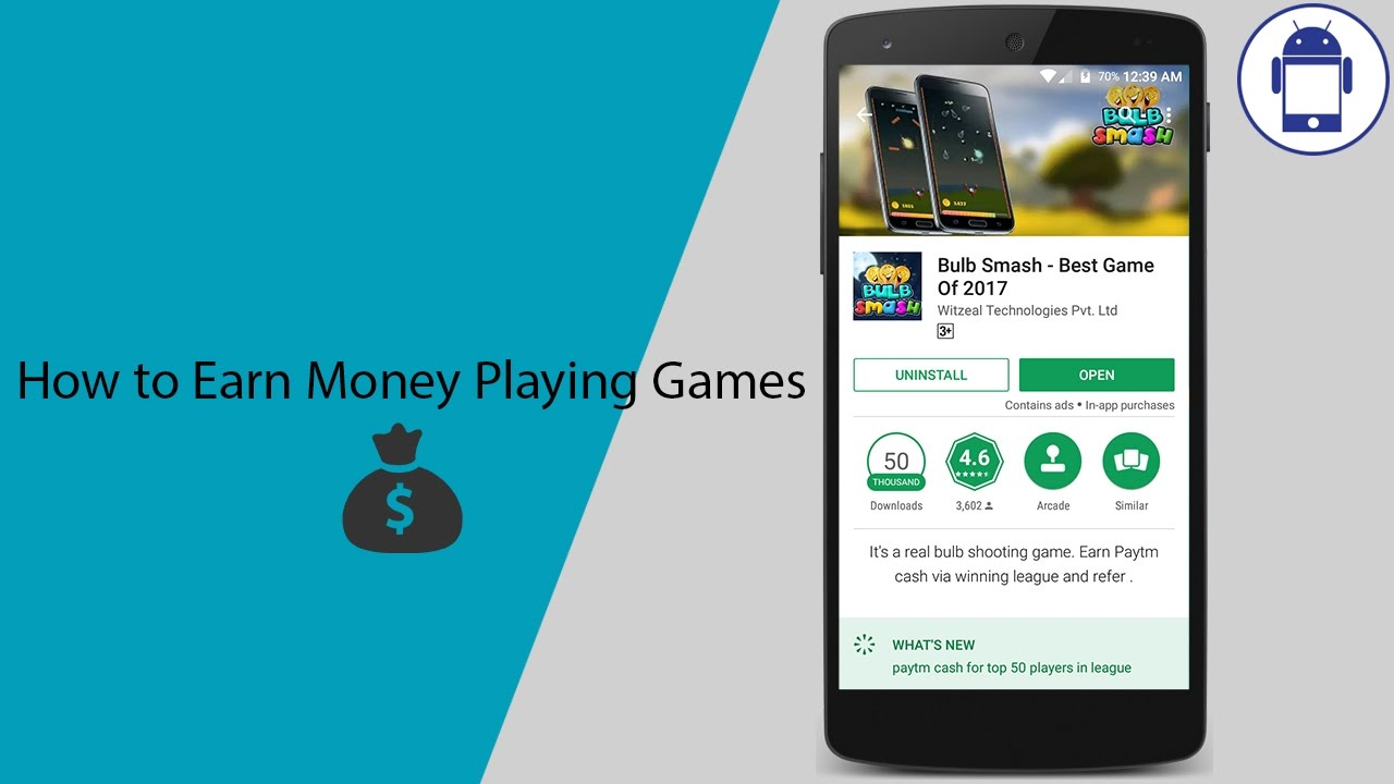 How To Earn Money Playing Android Games Youtube