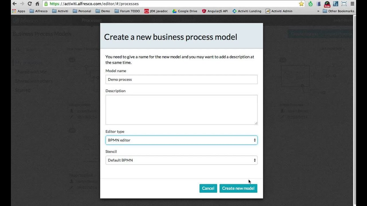 model your bpmn 20 processes in the activiti cloud - Bpmn For Dummies