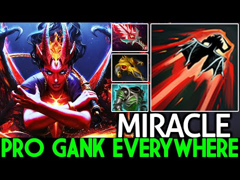 MIRACLE [Queen Of Pain] Beast Mid Gank Everywhere 7.26 Dota 2