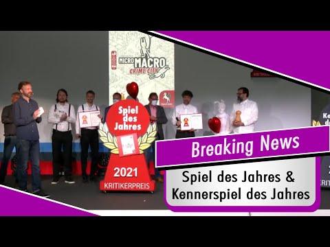 News - Spiel des Jahres & Kennerspiel des Jahres Verleihung 2021 - Spiel doch mal!