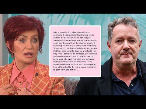 Sharon Osbourne APOLOGIZES for Defending Piers Morgan