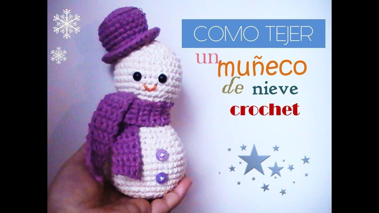 MUÑECO DE NIEVE a crochet - amigurumi paso a paso(diestro) - YouTube