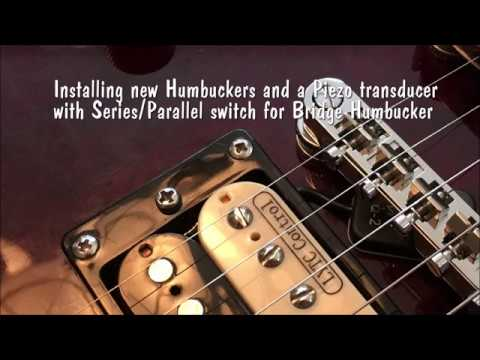 Installing Two Humbuckers And A Piezo Transducer (Part 1 Installation)