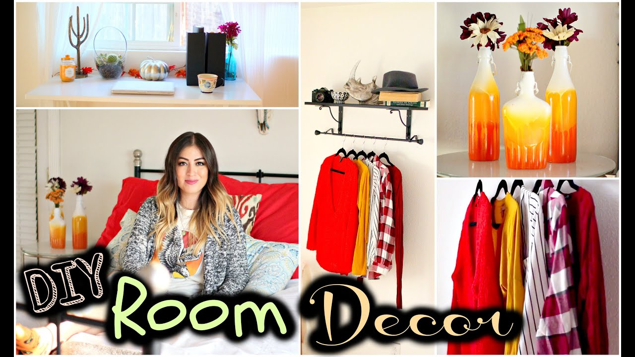 Diy fall room decor tumblr inspired youtube for Diy room decorations youtube