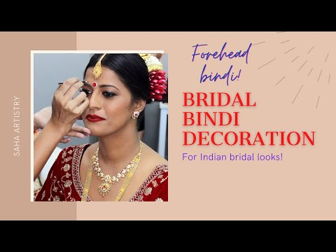 how-to-do-bridal-bindi-|-how-to-create-traditional-indian-bridal-look-|-forehead-bindi-decoration
