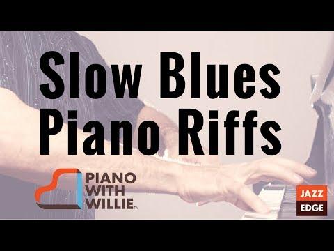 Slow Blues Piano Riffs - Beginner to Intermediate Lesson