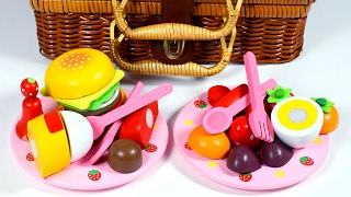 Fruit Cutting - Toy Cutting Velcro Fruit Vegetables - Fruit names - fruits and vegetables