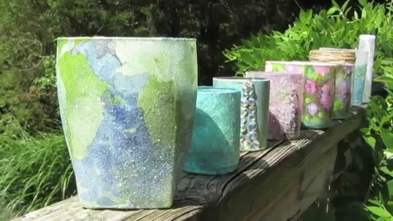 Bath Amp Body Works Candle Upcycle Glass Jar Decoupage Youtube