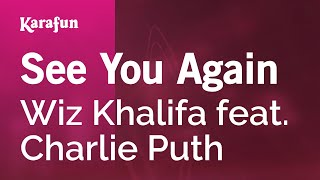 karaoke see you again   wiz khalifa